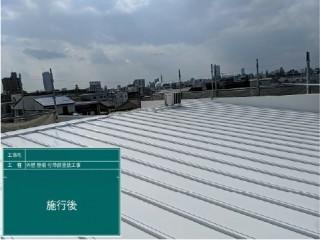 瓦棒、屋根塗装後