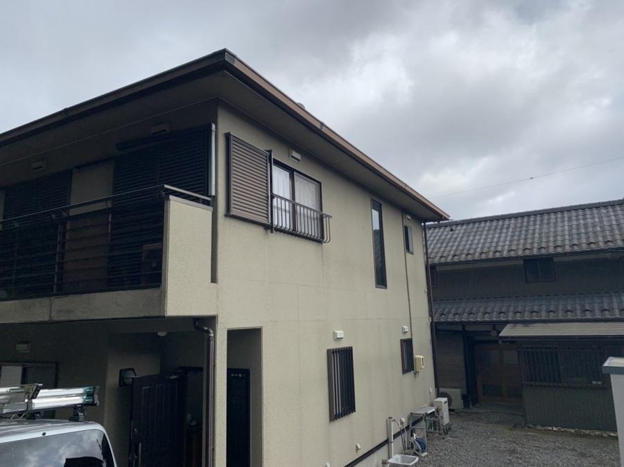 東員町にてカバー工法、外壁塗装、雨樋交換の現地調査