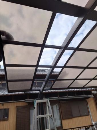 四日市市、カーポート、屋根修理