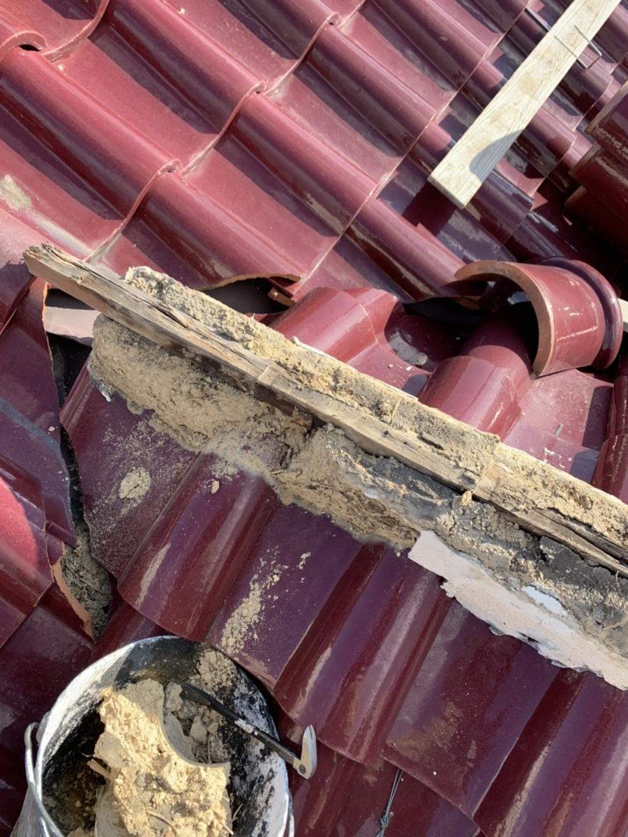 四日市市、屋根修理、漆喰工事