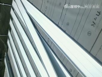 ガルバリウム鋼板 立平葺き 三晃式 屋根