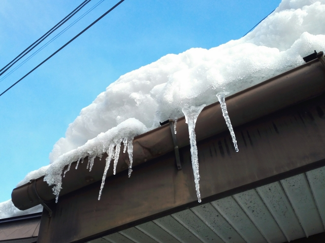 雨樋雪被害