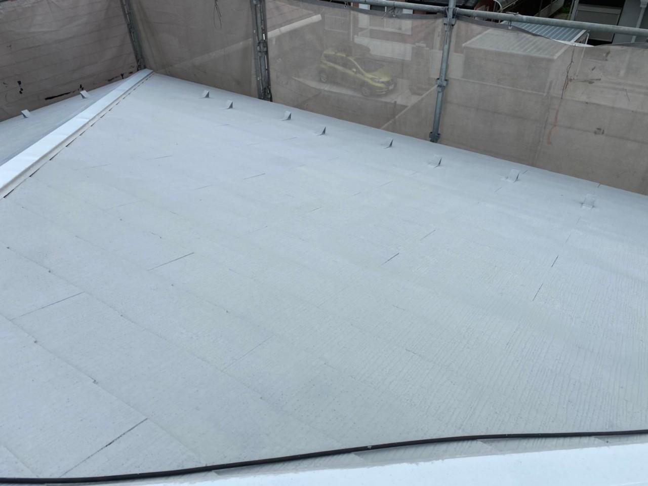 四日市市、屋根塗装、下塗り