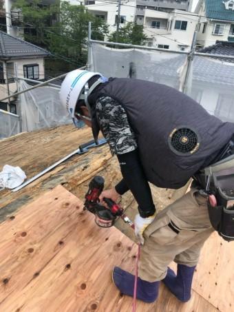 屋根葺き替え、下地組