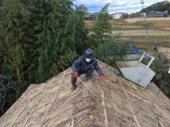 棟の土撤去作業、解体
