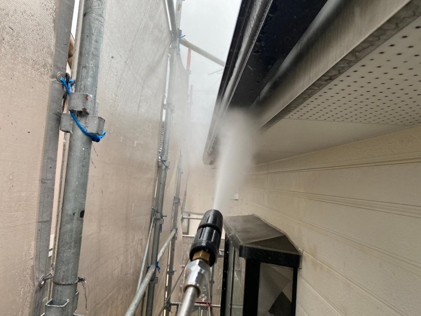 四日市市、外壁塗装、高圧洗浄