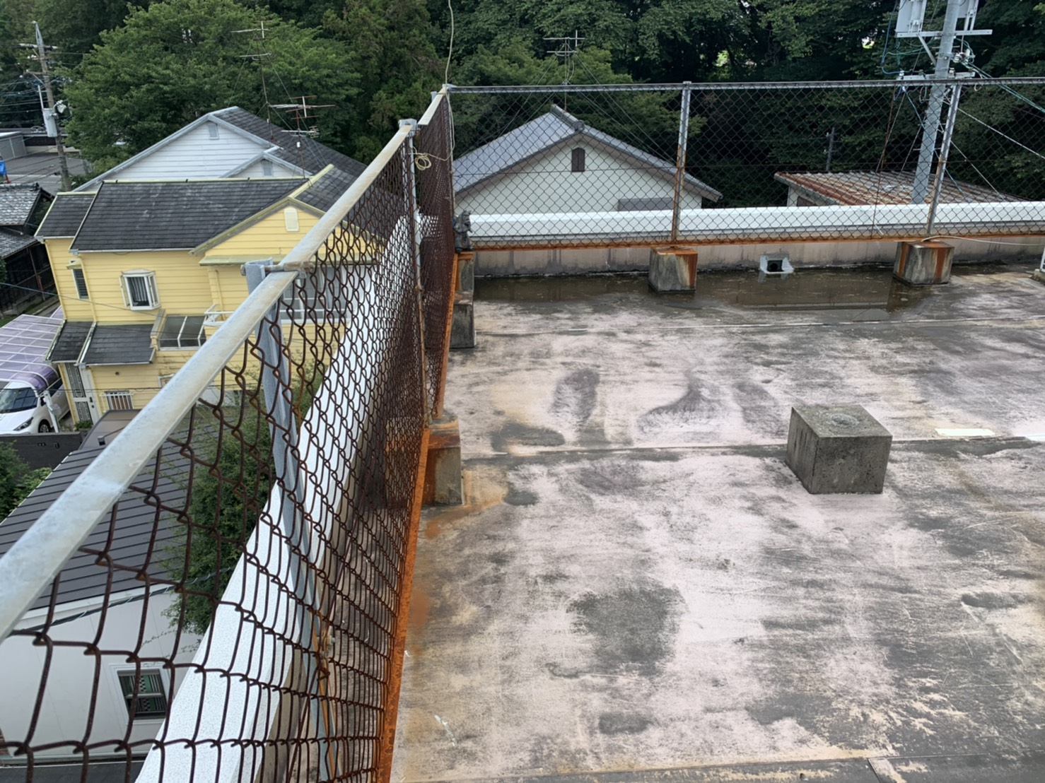 四日市市、雨漏り、シート防水