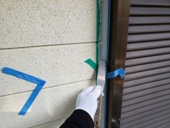 四日市、外壁塗装、三角打ち、シール工事