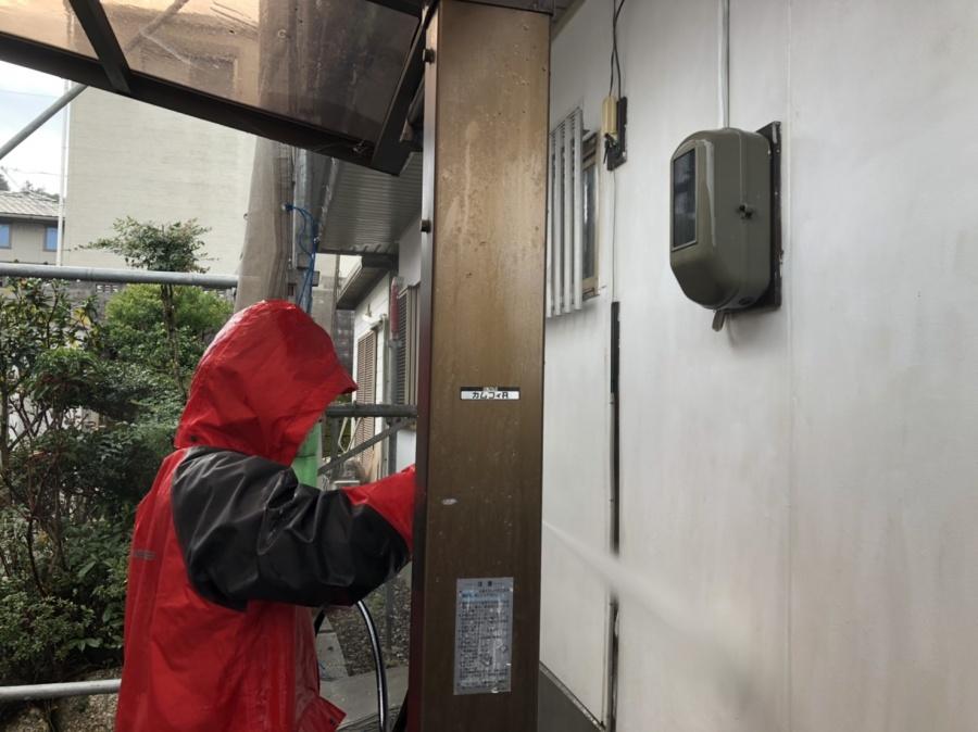 四日市、外壁塗装、高圧洗浄