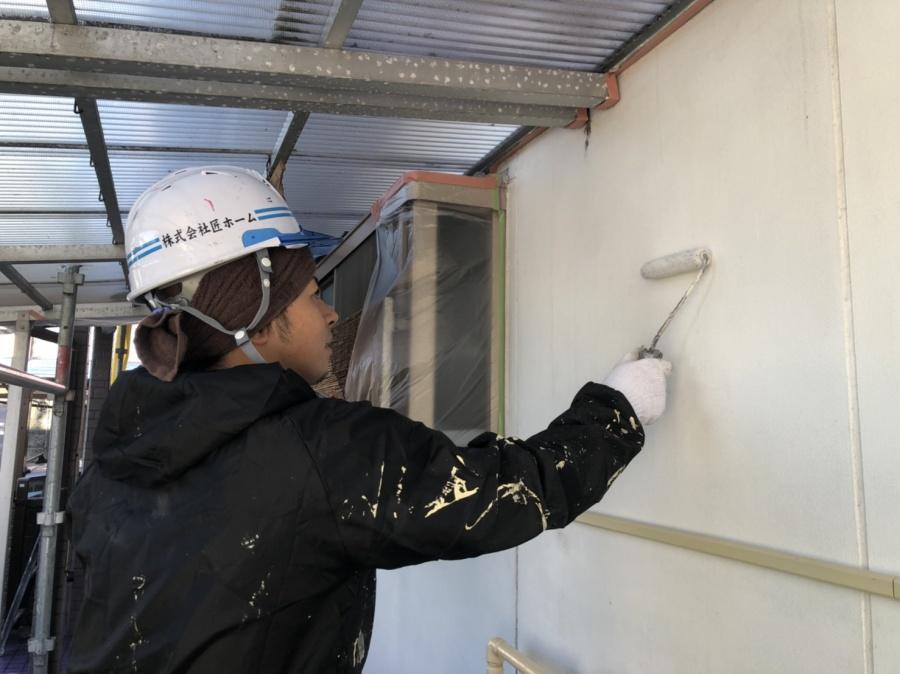 四日市市外壁塗装日本ペイントハイブリッド高耐候性塗料パーフェクトトップ