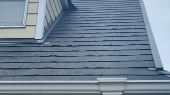 ニチハパミール屋根の剥がれ