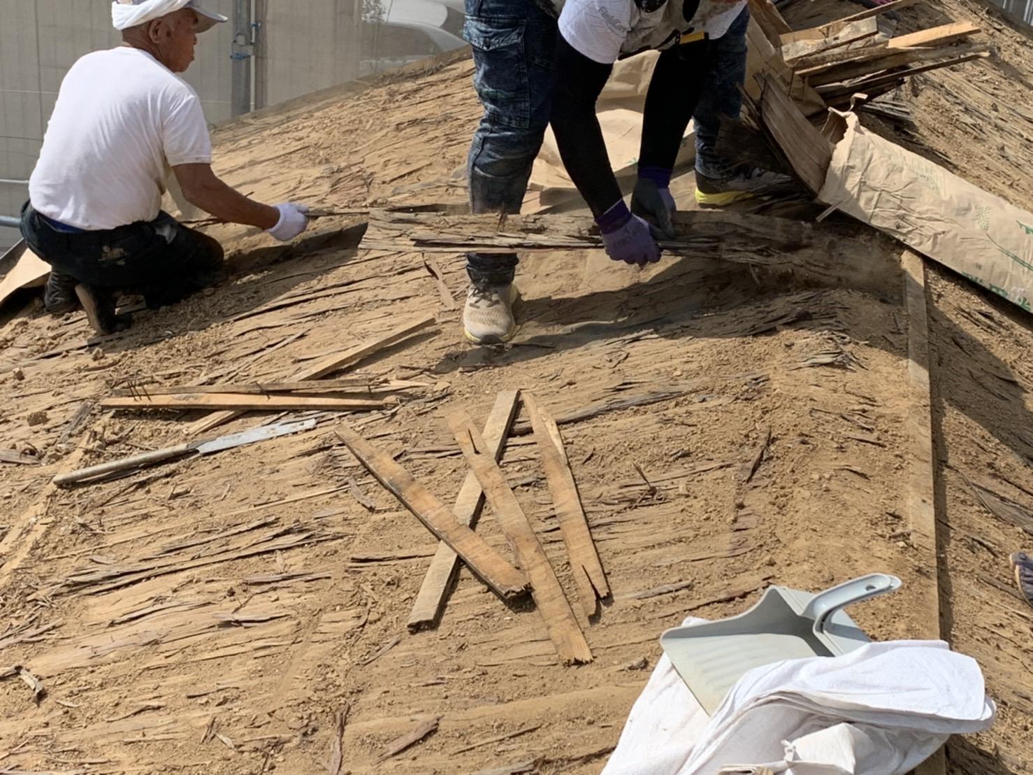 四日市市にて行った屋根の葺き替え工事