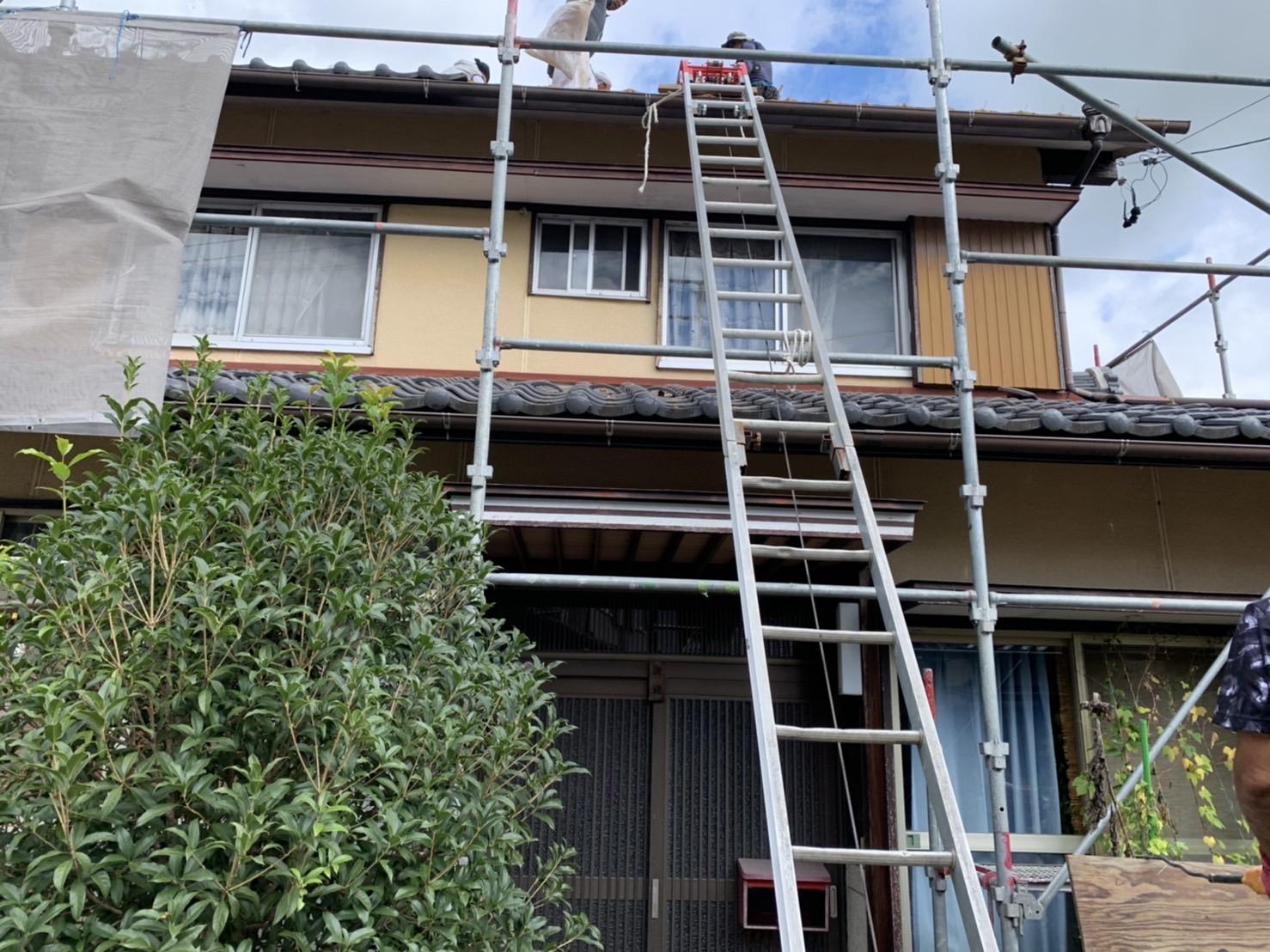 四日市市にて行った屋根の葺き替え