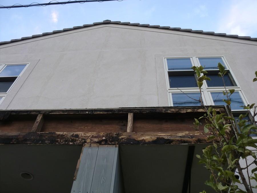 三重県津市台風被害庇屋根