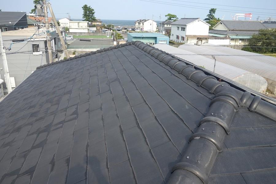 屋根カラーベスト 高圧洗浄