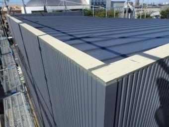瓦棒葺き屋根 緩勾配 ガルバリウム鋼板