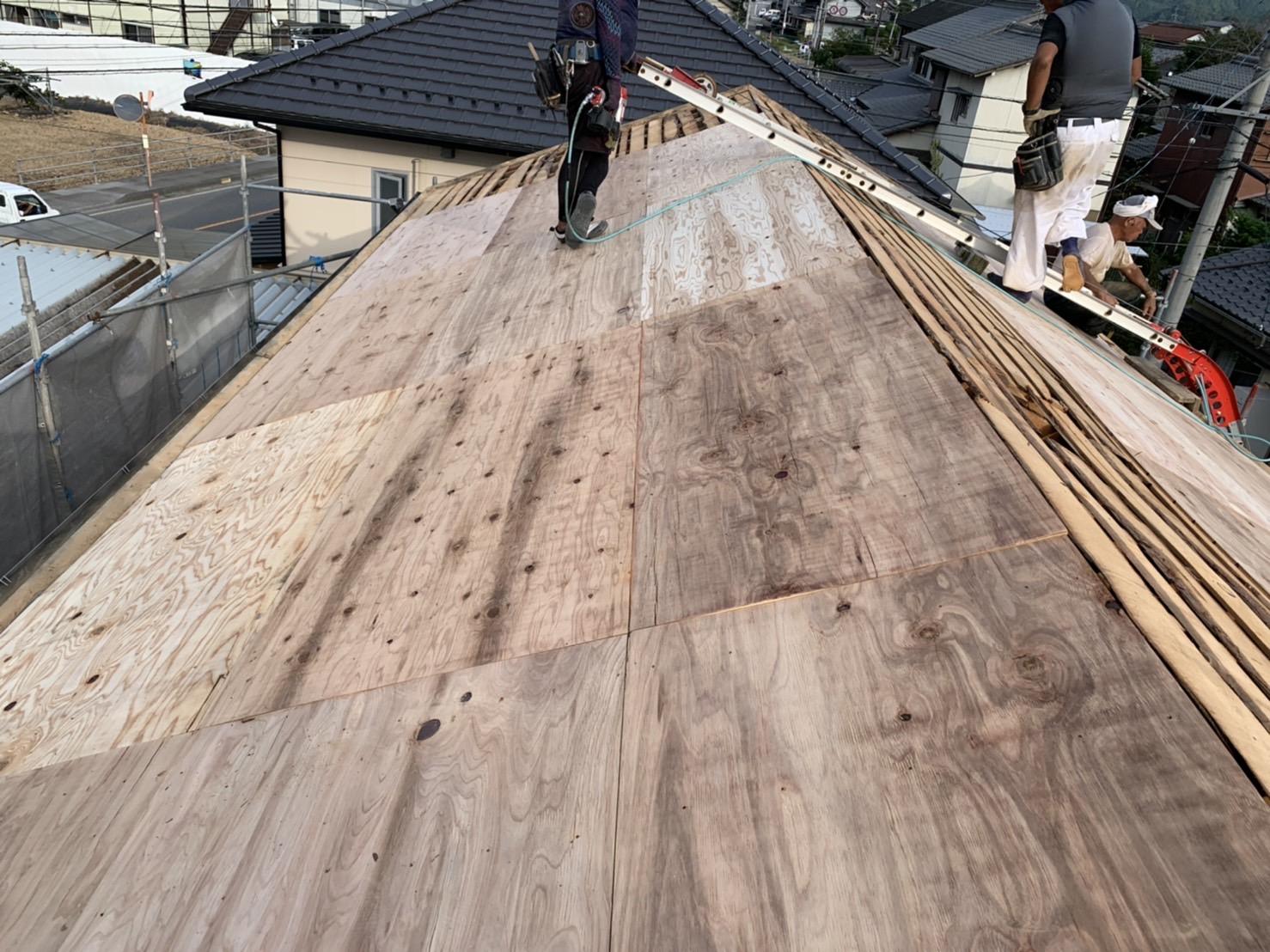 四日市市の屋根葺き替え工事