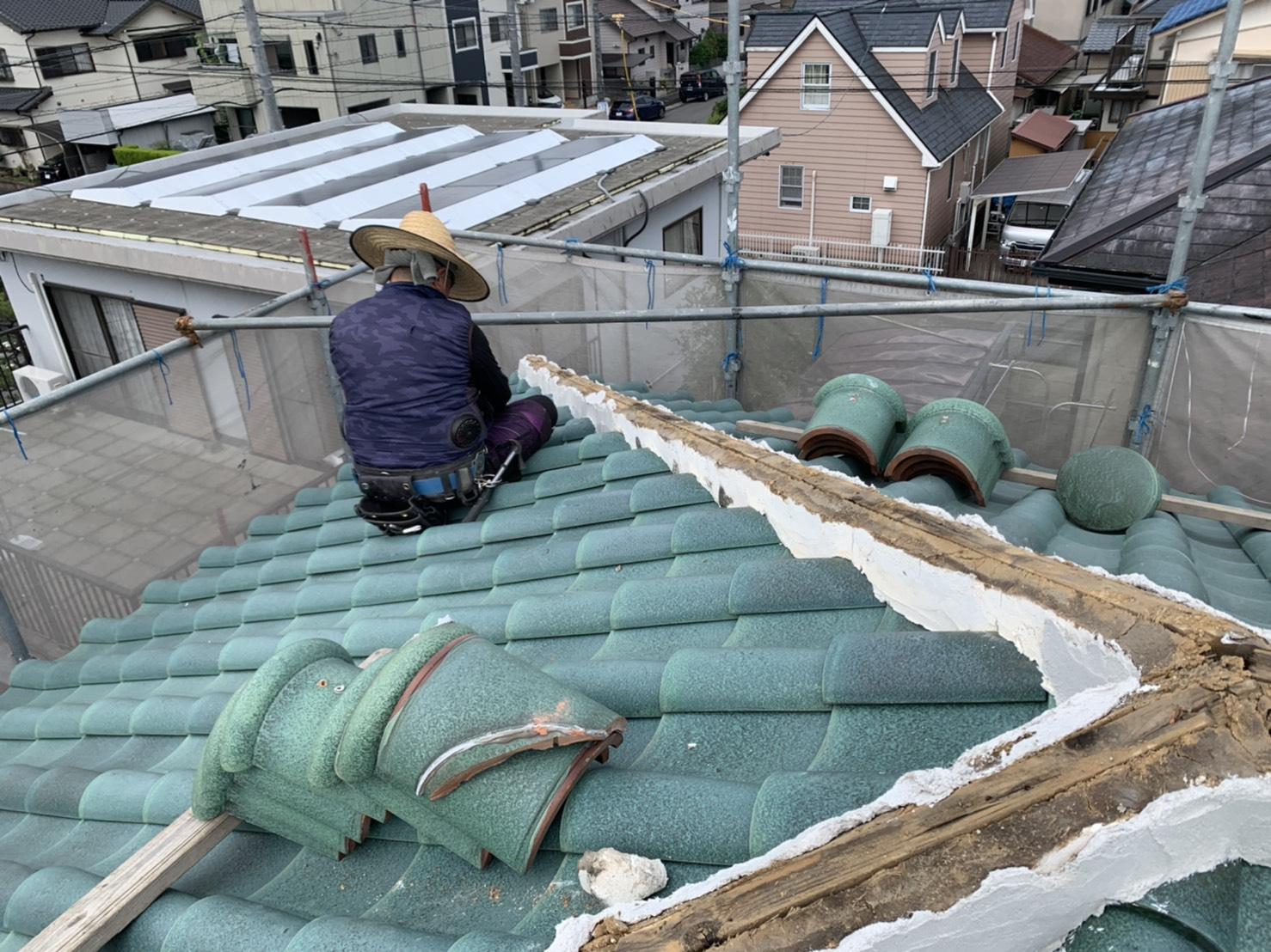 四日市市、屋根補修、漆喰