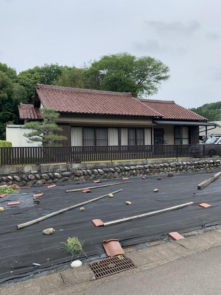雨漏れした瓦屋根