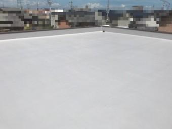 堀整形 防水工事 ウレタン 平屋根 陸屋根