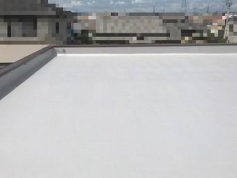 堀整形 陸屋根 平屋根 塗膜防水 ウレタン防水工事