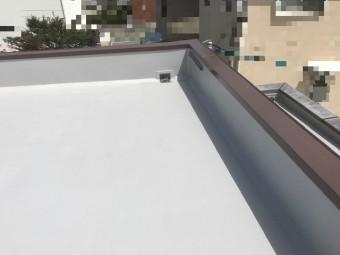 堀整形 防水工事 ウレタン 平屋根 陸屋根 排水溝