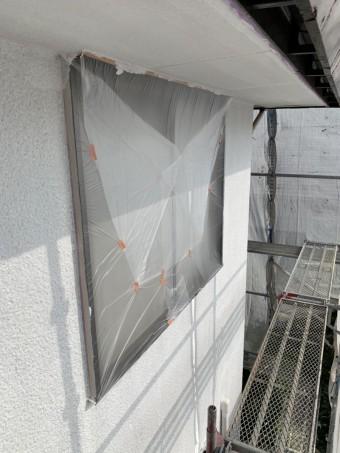 外壁塗装下塗り後
