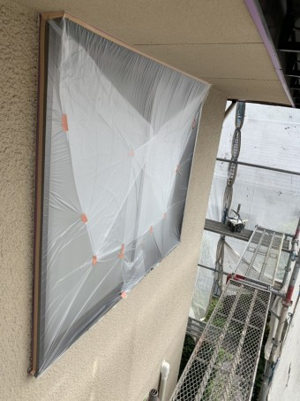 外壁塗装マスキング