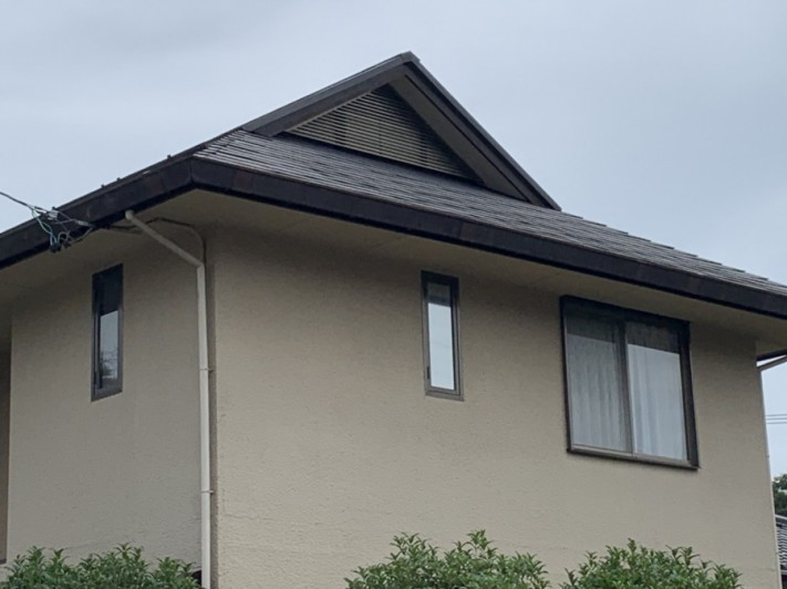 雨樋交換、屋根塗装前