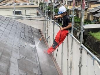 屋根高圧洗浄ロングガン