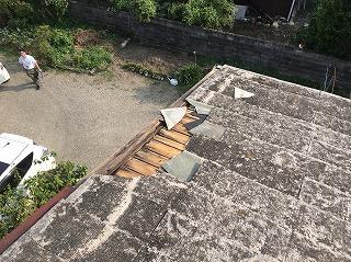 ストレート瓦破損 街の屋根やさん四日市店