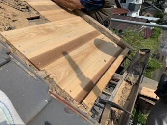 屋根下地、雨漏れ修理
