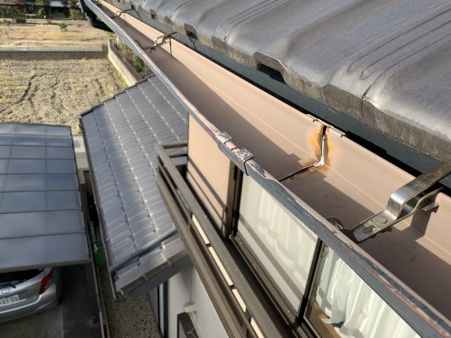 川越町、雨樋交換、屋根工事