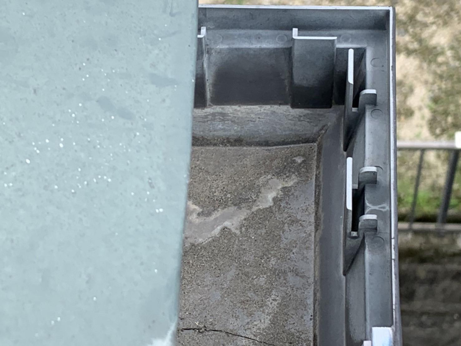 四日市市の台風被害の雨樋