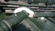 雨漏り 屋根 漆喰 棟瓦 補修 街の屋根やさん四日市店