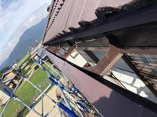 台風被害 軒樋 破損 修繕 街の屋根や四日市店
