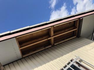 台風被害 屋根 軒天ボード 軒天 破損 修繕 街の屋根や四日市店