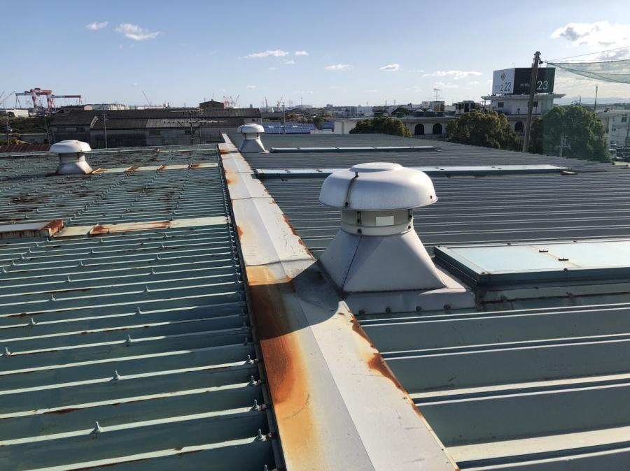 倉庫 金属屋根 折半屋根