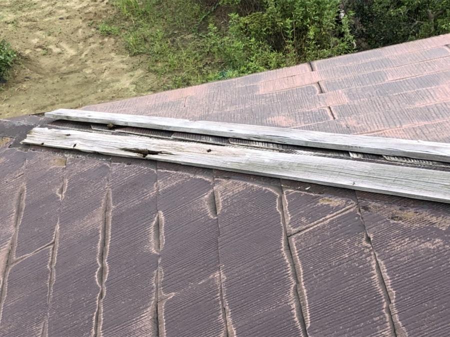台風被害 棟板金 屋根 修繕 街の屋根やさん四日市店