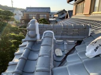東員町、屋根工事、漆喰