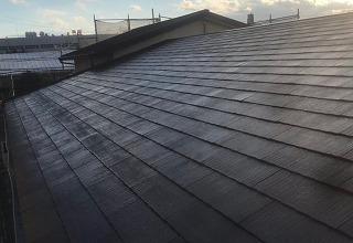 上塗り2回目 コロニアル塗装 街の屋根やさん四日市店 津市