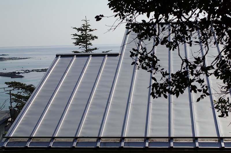 ガルバリウム鋼板の屋根、イメージ