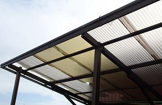 台風被害 テラス屋根破損 街の屋根やさん四日市店