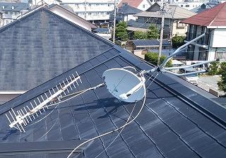 テレビアンテナ転倒 街の屋根やさん四日市店 津市