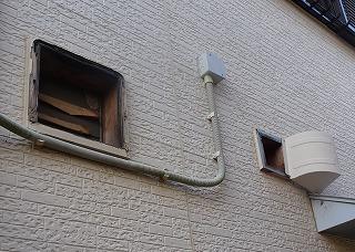 津市の台風被害による外壁部破損の修理