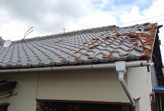 台風被害 屋根破損 街の屋根やさん四日市店 津市