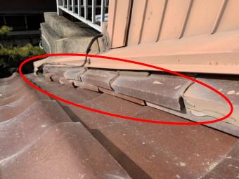 増築部分のつなぎ目の屋根部分の雨漏り箇所の雨漏り点検