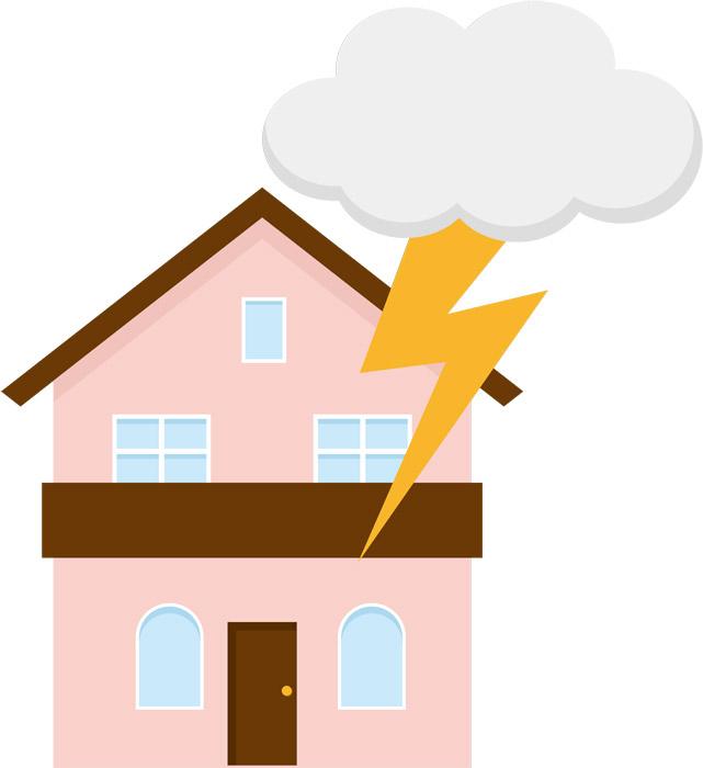 雷被害 屋根