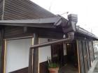 台風被害 樋補修