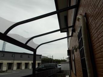 台風被害 街の屋根や四日市